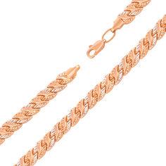 Золотой браслет Листья комбинированного цвета в ролексовом плетении 18.5 размера от Zlato