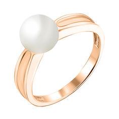 Кольцо из красного золота с жемчугом 000126245 16.5 размера от Zlato