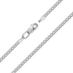 Серебряный браслет в якорном плетении 000132738 18.5 размера от Zlato