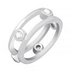 Серебряное кольцо Аморелли с фианитами 000030921 16 размера от Zlato