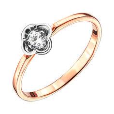 Золотое кольцо в комбинированном цвете с фианитом 000135319 19 размера от Zlato