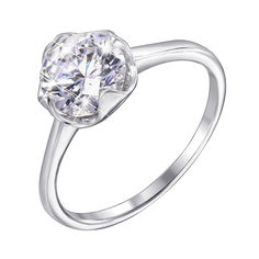Серебряное кольцо с фианитом 000118372 17.5 размера от Zlato
