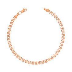 Браслет из красного золота с алмазной гранью 000133877 18 размера от Zlato
