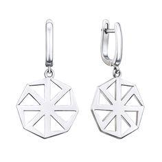 Серебряные серьги-подвески Коловрат 000134374 от Zlato