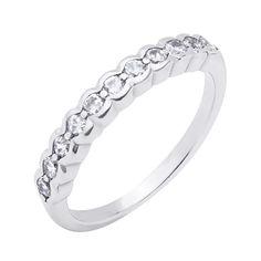 Серебряное кольцо с дорожкой из фианитов 000118407 17.5 размера от Zlato