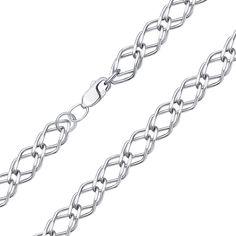 Серебряная цепь в плетении двойной ромб 000136937 50 размера от Zlato