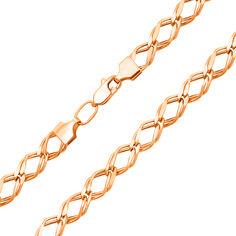 Цепочка из красного золота в плетении двойной ромб 000136169 55 размера от Zlato