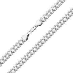 Серебряная цепь фантазийного плетения 000123458 50 размера от Zlato