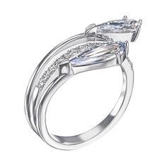 Серебряное кольцо с фианитами 000137682 17 размера от Zlato