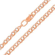 Золотая цепочка в комбинированном цвете в плетении бисмарк 000123708 55 размера от Zlato