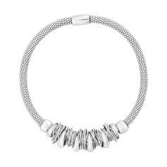 Серебряный браслет с подвесками-кольцами 000124503 б/р размера от Zlato