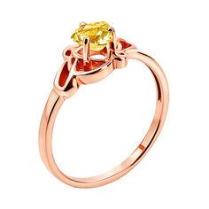 Кольцо из красного золота с цитрином 000137216 17 размера от Zlato