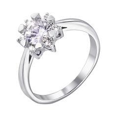 Серебряное кольцо с фианитами 000129320 16.5 размера от Zlato