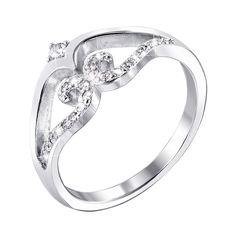 Серебряное кольцо с фианитами 000140013 16.5 размера от Zlato