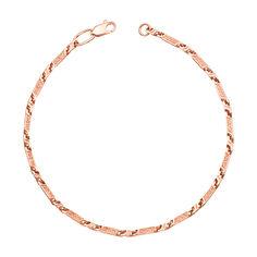 Браслет из красного золота с удлиненными литыми звеньями 000139183 18 размера от Zlato