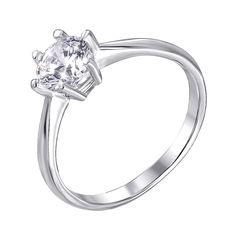 Серебряное кольцо с фианитом 000140613 17 размера от Zlato