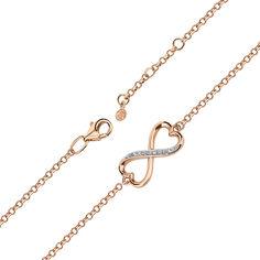 Золотой браслет в комбинированном цвете с фианитами 000141464 16.5 размера от Zlato