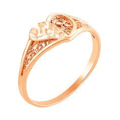 Кольцо из красного золота 000006110 16.5 размера от Zlato