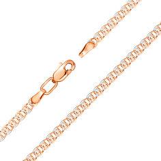 Золотой браслет в комбинированном цвете в плетении лав, 3,5мм 000141307 18 размера от Zlato