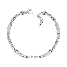 Серебряный браслет якорного плетения 000125497 17.5 размера от Zlato