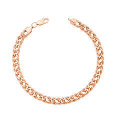 Золотой браслет в красном цвете в плетении ромб 000125686 21.5 размера от Zlato