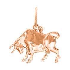 Кулон из красного золота Знак Зодиака Телец 000131555 от Zlato