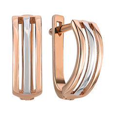 Золотые серьги в комбинированном цвете 000141569 от Zlato