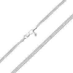 Многослойная цепочка из белого золота 000143502 45 размера от Zlato