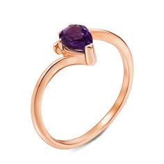 Кольцо из красного золота с аметистом 000131301 18 размера от Zlato