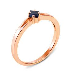 Кольцо из красного золота с сапфиром 000131386 16.5 размера от Zlato