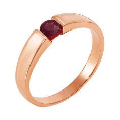 Кольцо из красного золота с рубином 000137447 17 размера от Zlato