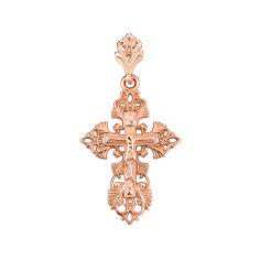 Православный крестик из красного золота 000135806 от Zlato
