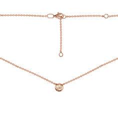 Колье из красного золота с шампаневым кристаллом Swarovski 000129522 38 размера от Zlato