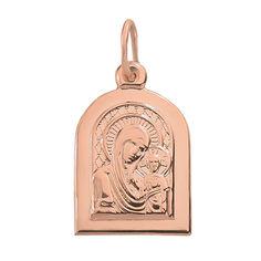 Ладанка из красного золота Божья Матерь Казанская 000004846 от Zlato