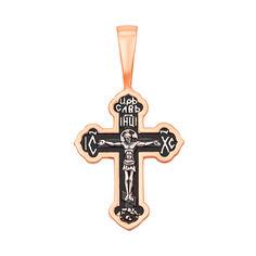 Серебряный крестик с чернением и позолотой 000139763 от Zlato