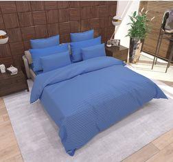 Комплект постельного белья SoundSleep Stripe Navy Blue Сатин-страйп 160х215 (93166119) от Rozetka