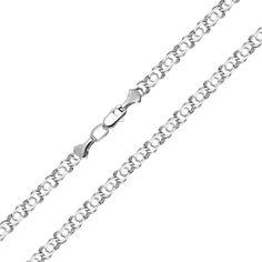 Серебряный браслет в плетении арабский бисмарк 000123569 22.5 размера от Zlato