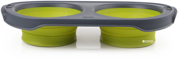 Складная миска для кормления Dexas Collapsible Pet Feeder 1200 мл Зеленая (dx30658) от Rozetka