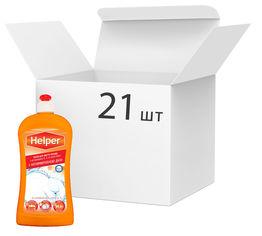 Упаковка средства для мытья посуды Helper антимикробного Ромашка 21 шт х 500 мл (4820183971142) от Rozetka