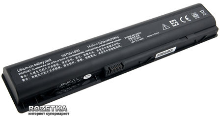 Акция на Аккумулятор PowerPlant для HP DV9000 Black (14.4V/4800mAh/6Cells) (NB00000112) от Rozetka