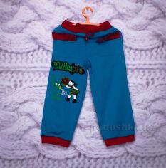 Штаны трикотажные для девочки Niso Baby TR108 бирюзовые 104 от Podushka