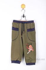 Штаны трикотажные для мальчика Niso Baby TR104 оливковые 86 от Podushka