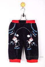 Штаны трикотажные детские Niso Baby 1110 темно-синие 86 от Podushka