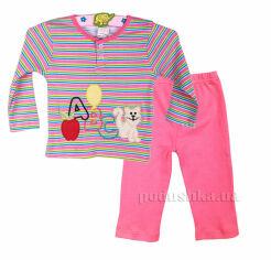Пижама для девочки Niso Baby 1043 розовая 62 от Podushka