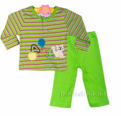 Пижама детская Niso Baby 1043 зеленая 68 от Podushka
