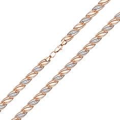 Акция на Золотой браслет в комбинированном цвете 000123145 18 размера от Zlato