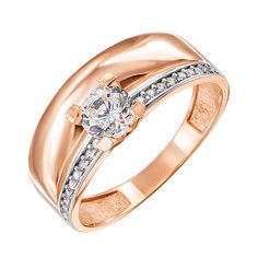 Акция на Золотое кольцо в комбинированном цвете с фианитами 000123817 16 размера от Zlato
