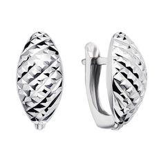 Серебряные серьги с алмазной гранью 000122951 от Zlato