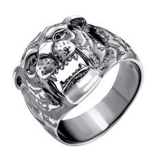 Серебряный перстень Оскал тигра 000112617 17.5 размера от Zlato