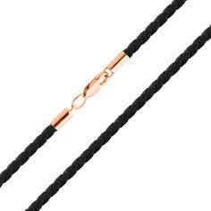 Шелковый шнурок Токио с застежкой из красного золота 55 размера от Zlato